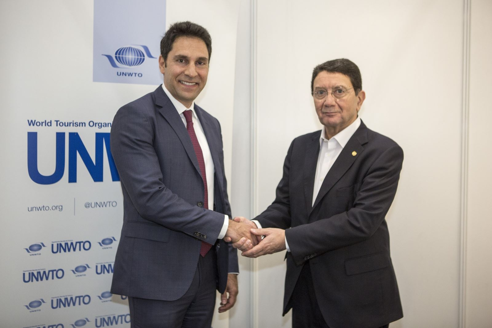 RAKTDA CEO Haitham Mattar With UNWTO Secretary General Taleb Rifai Small
